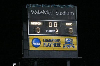 #1 University of Akron Men's Soccer (1) v #5 North Carolina (0)