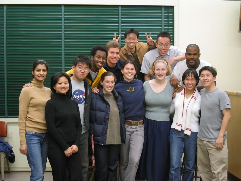 AiR Spring 2003 - Group photo @ 1st rehearsal - no flash, 1-21-2003