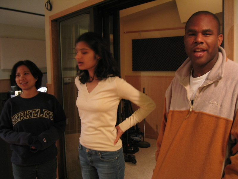 Thursday 3-13-2003 @ studio, Cristina, Shaila, & Marc