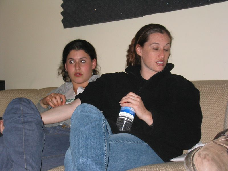 Thursday 3-13-2003 @ studio, Rebecca has Beth in ecstacy