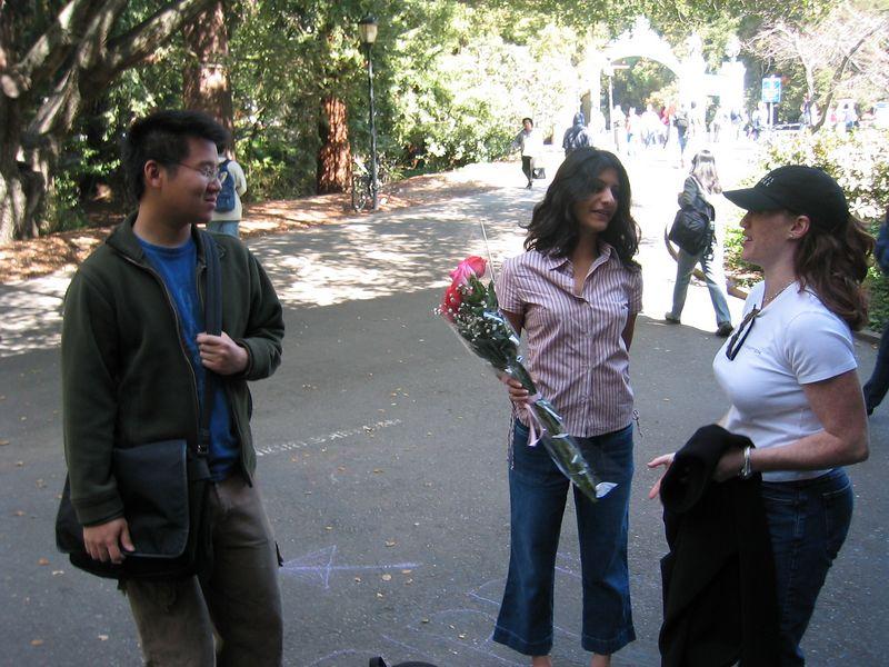 Monday Sproul 3-10-2003, Kenji, Shaila's B-day roses, & Beth