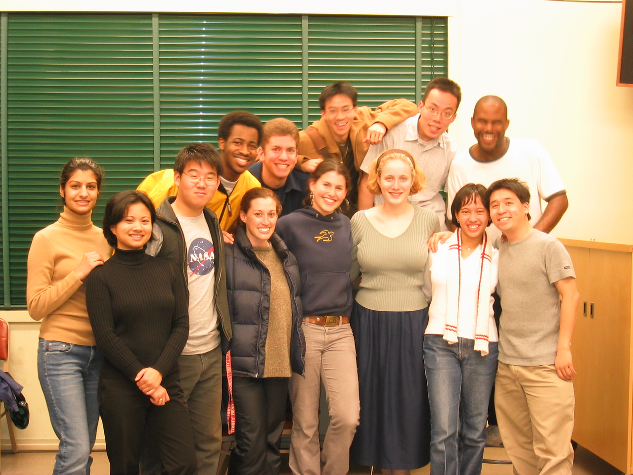 AiR Spring 2003 - Group photo @ 1st rehearsal - with flash, 1-21-2003