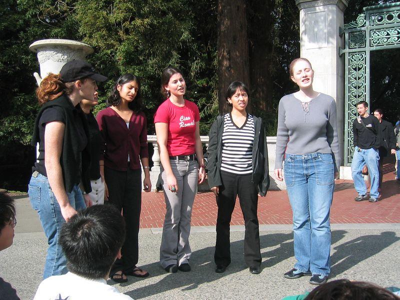Gallileo on Sproul - Beth, Cristina, Shaila, Rebecca, AnnMarie, & Sylvia, Monday 1-27-2003