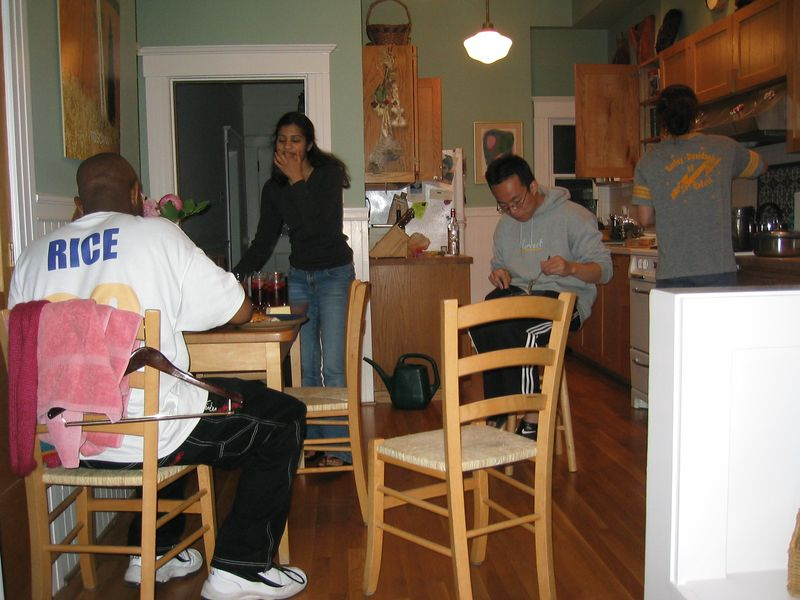 Midnight BBQ @ Rebecca's - Men eat while women slave, Saturday 2003 06 07