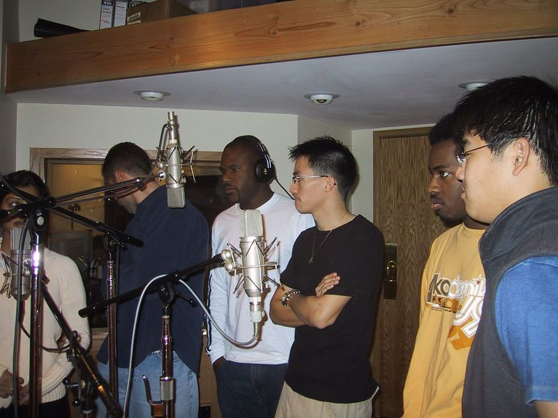 2003 01 26 At Whip Records - Shaila, Max, Marc, Ben, Marvin, & Kenji @ the mics