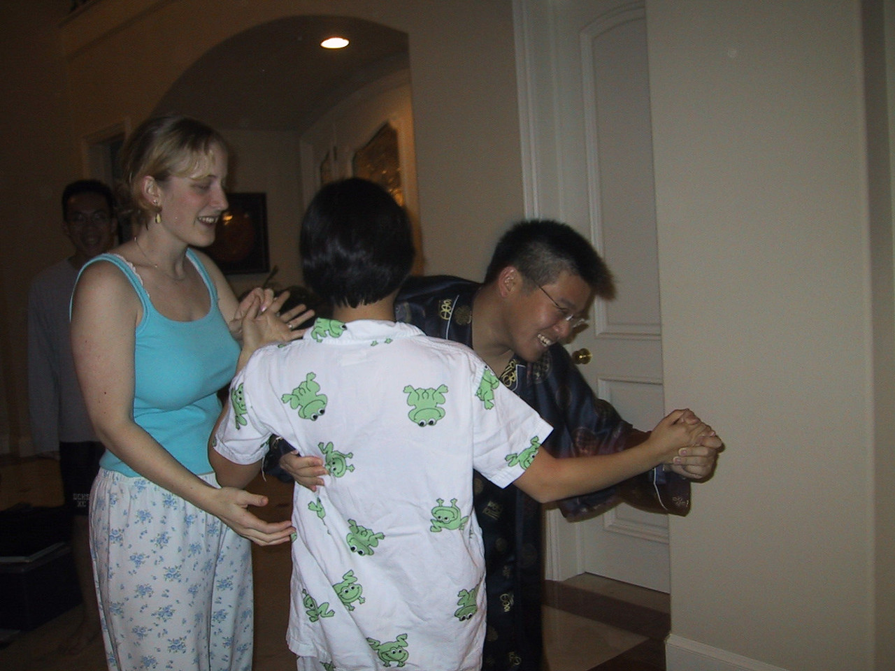 Sylvia tries to cut in, but Kenji tries to run with AnnMarie