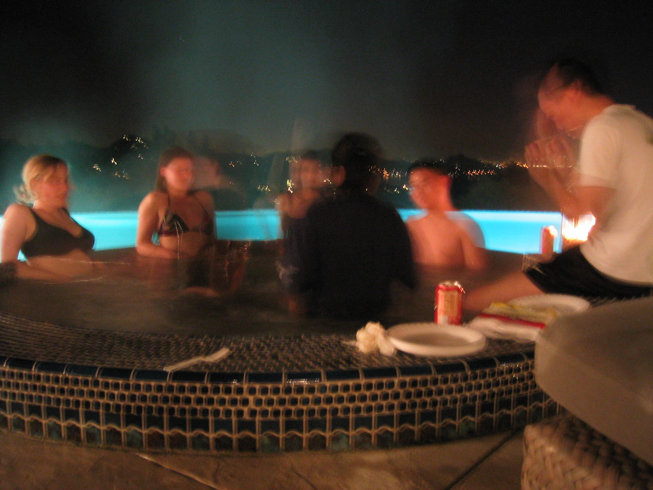 Slow shutter - Hot tub + View