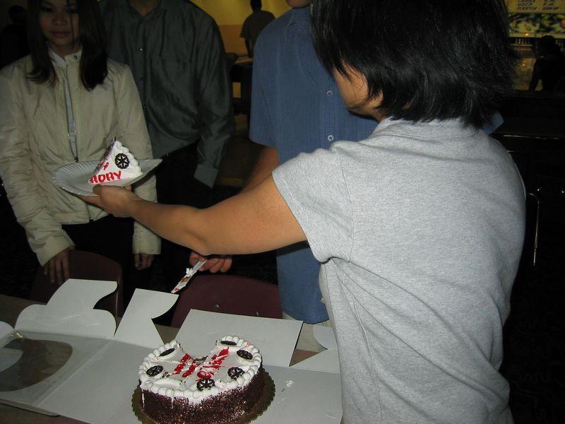 Cristina's B-day cake @ Albany Bowl, 4-11-03