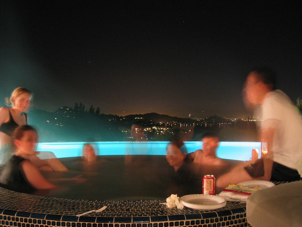 Slow shutter - Hot tub + view 2