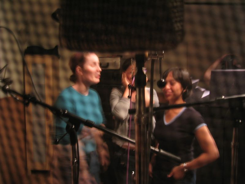 Rat's view of altos Sylvia, Rebecca, & AnnMarie through an air vent