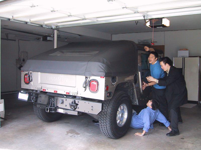 Ben, Tyler, Robin     & a Hummer