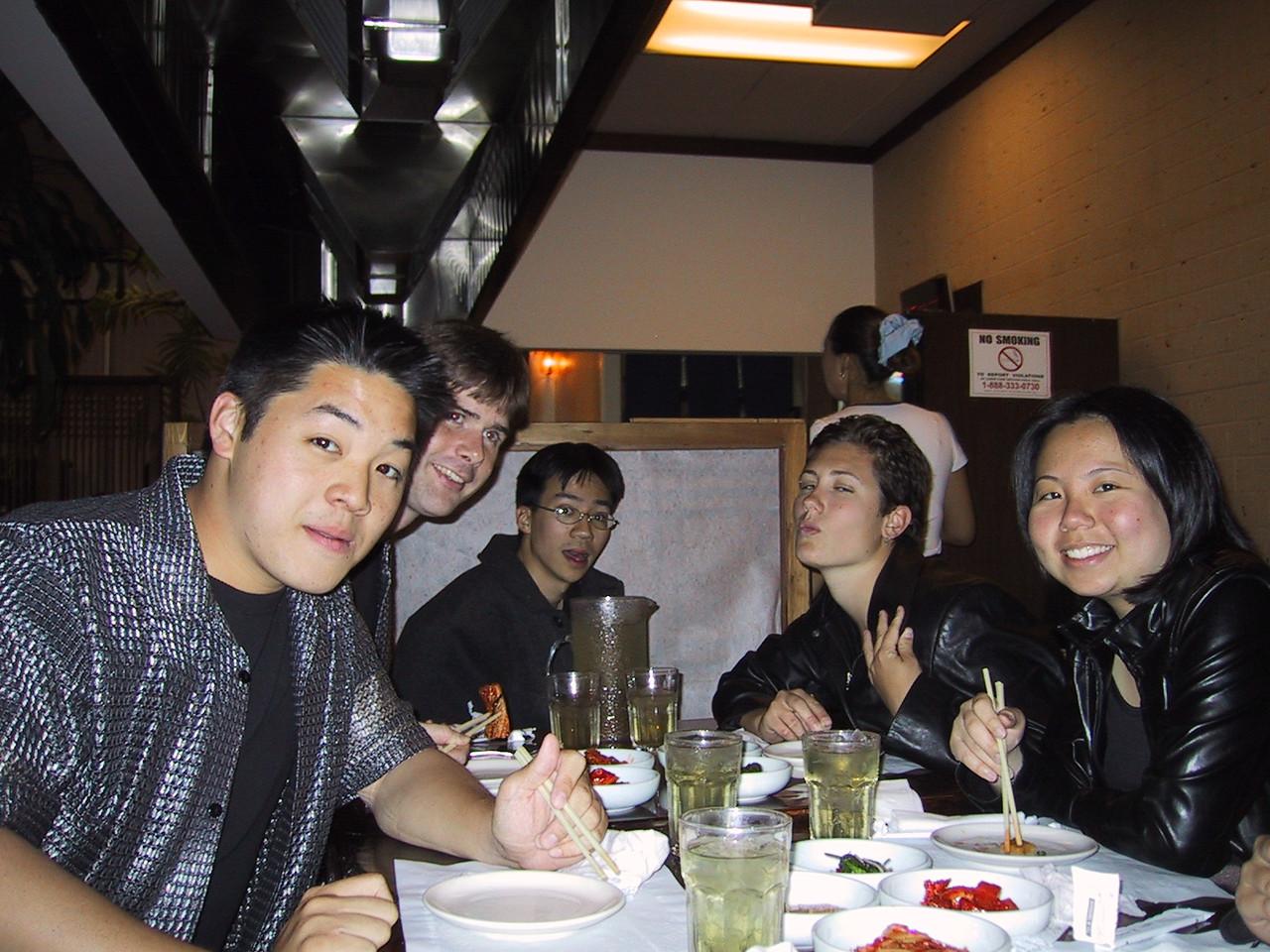 Korean Dinner after K-Town Gig