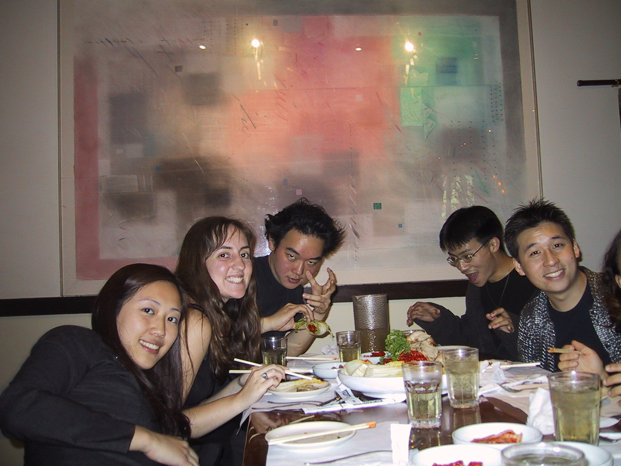 Korean Dinner after K-Town Gig - Other End of the table