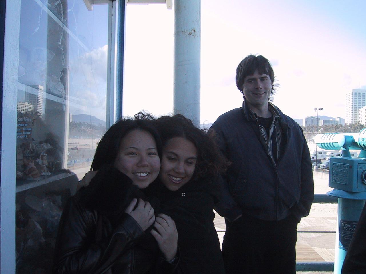 Xiao-Wei, Jackie, & Rhett on Santa Monica Pier