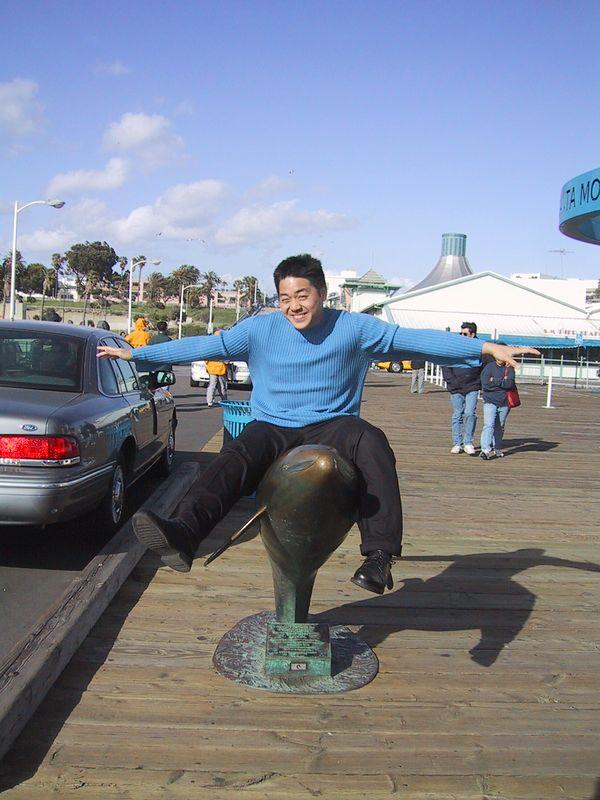 Tyler rides dolphin