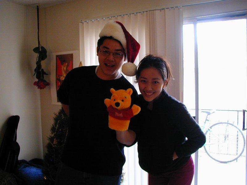 Tyler, Judy, & Pooh Bear