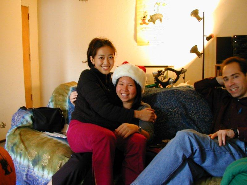 Judy in Xiao-Wei's lap & Joel