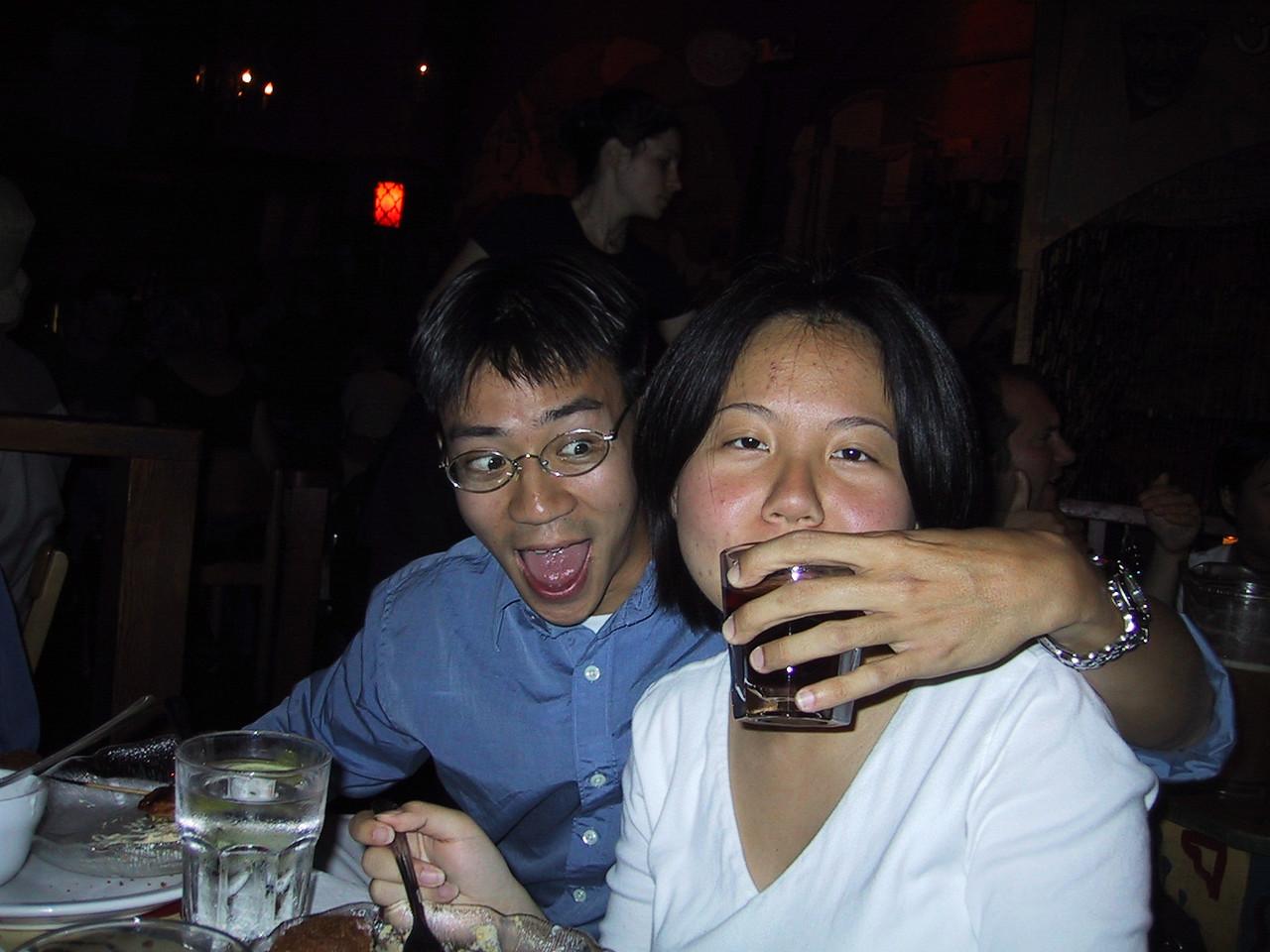 Ben getting Xiao-Wei drunk