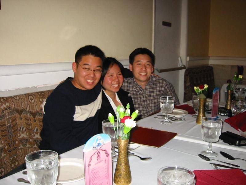 Kenji, Xiao-Wei, Lenny @ restaurant