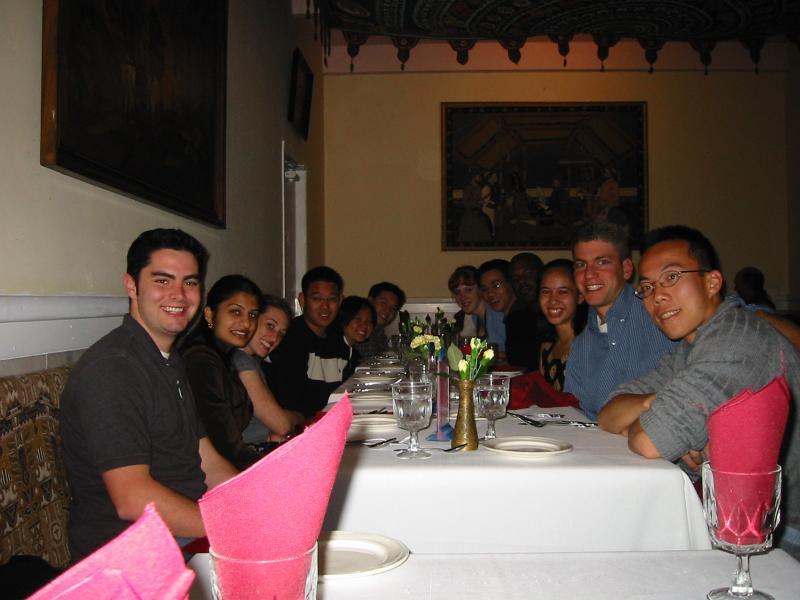AiR Spring 2002 @ restaurant