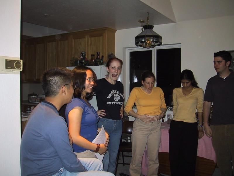 Kenji, AnnMarie, Sylvia, Beth, Shaila, & Jordan in rehearsal