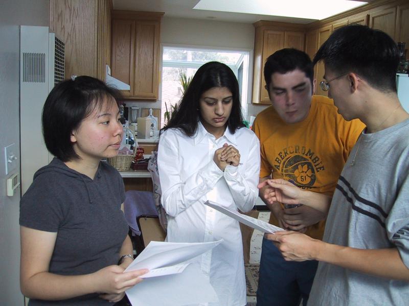 Xiao-Wei, Shaila, Jordan, & Ben in rehearsal