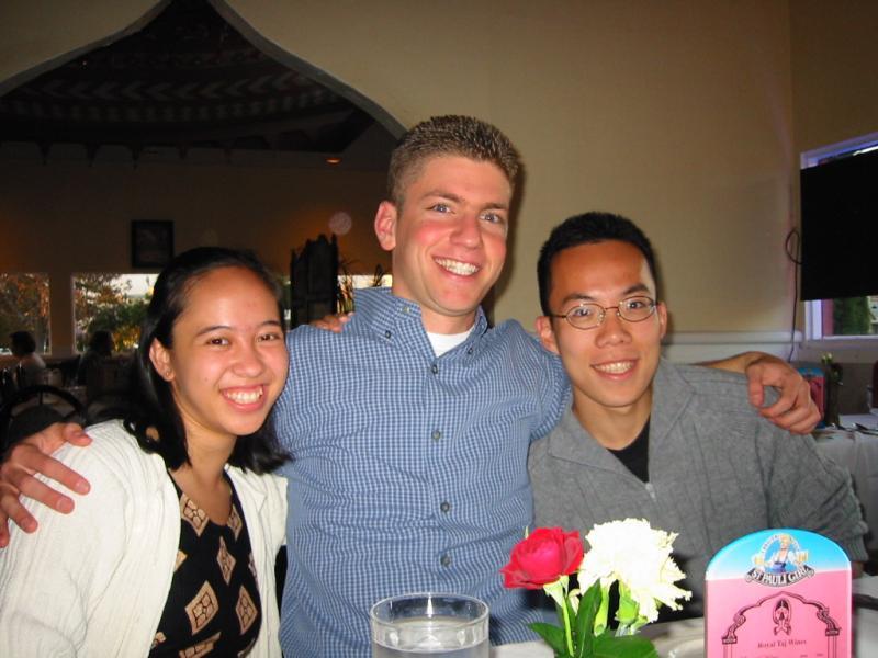AnnMarie, Max, Albert @ restaurant