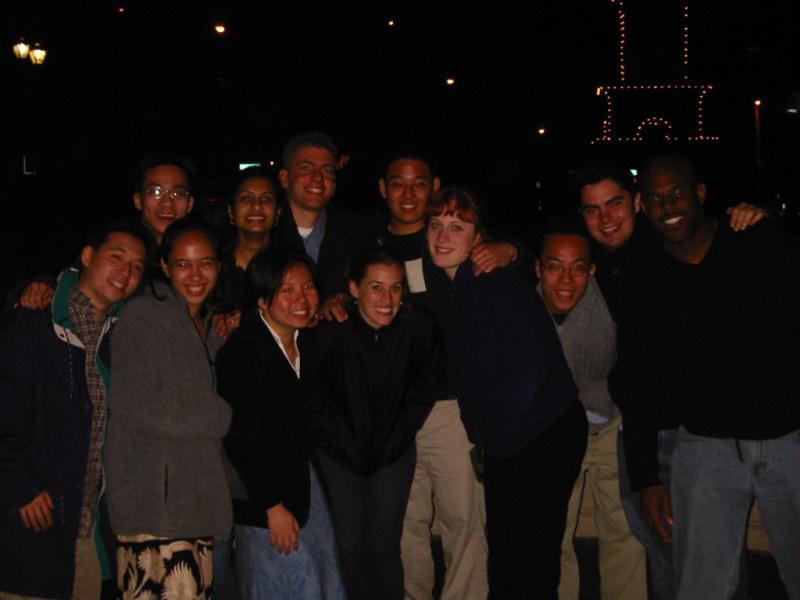 Group Photo outside Cafe