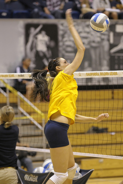 Cal Women's Volleyball on Saturday, Oct. 28, 2012, at Haas Pavilion.