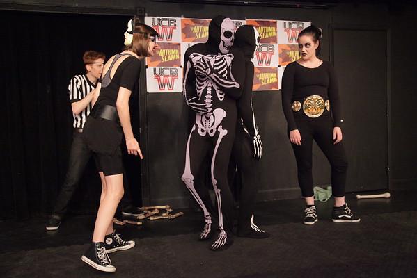 2015 UCBW AutumnSlamn #1: Announcers, Beauty School V. Spooky Skeletons