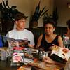 1993 - Denny's - Sharon, Greg & Ori