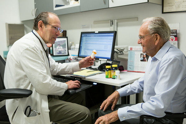 Dr. Grossman with Patient Don Geurber (Gladys Guerber)  8.22.14