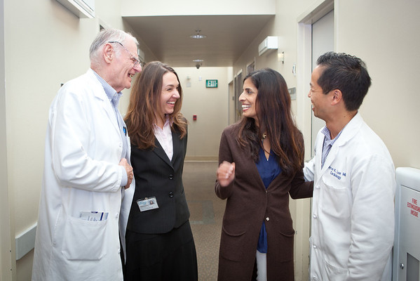Shashi Deb, a patient, and faculty members Dr. Mel Scheinman, Julianne Wojciak, and Dr. Byron Lee 09.09.13