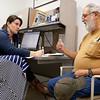 8:30 am: Nurse practitioner fellow Morgan Fitzpatrick takes a patient history with a diabetic veteran.