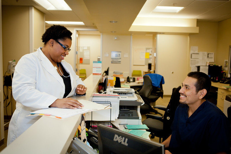 Erica Bagby with Med. assistant Luis Valenzuela