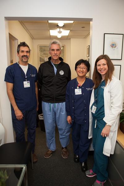 L to R:  William Gersten, Dr. Mitchel Berger, Vivien Ma-Wong, Allison Pollock