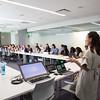 L- Kim Q Dau, R-Kate Frometa-CNM,Obgyn leading their class. At GHS Mission Bay, UCSF
