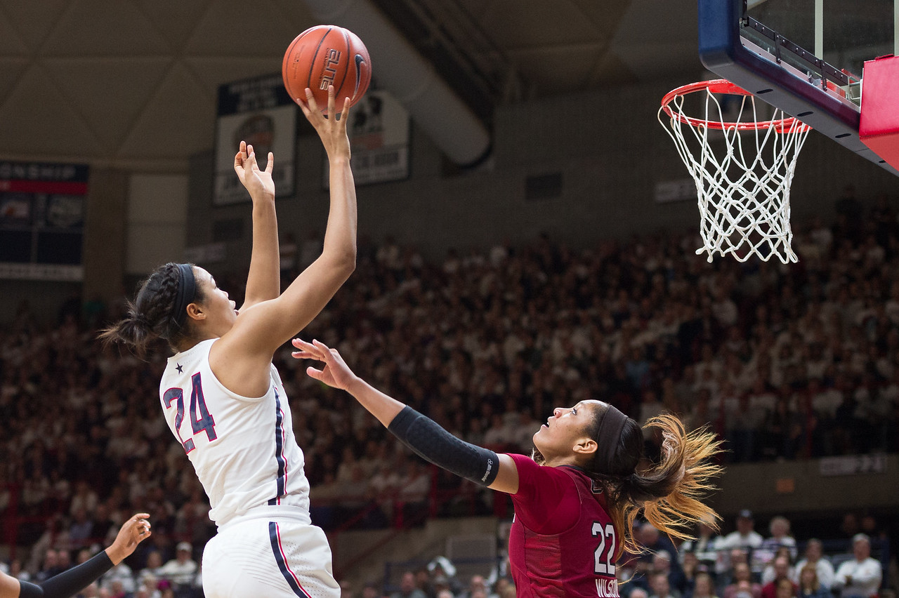 F:\DPF\Tuesday Sports\UConn Women's Basketball vs. South Carolina  #1410 February 13, 2017.jpg\UConn #24/Michael Zaritheny