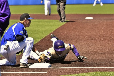 JMU picked off first base in the 3rd inning