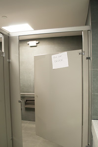 Out-of-Order Assessible Stall in Male Restroom (8-8-16)