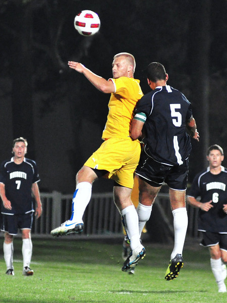 Chas Wilson was in front of the Monmouth goal all night, nearly converting on an excellent chance.