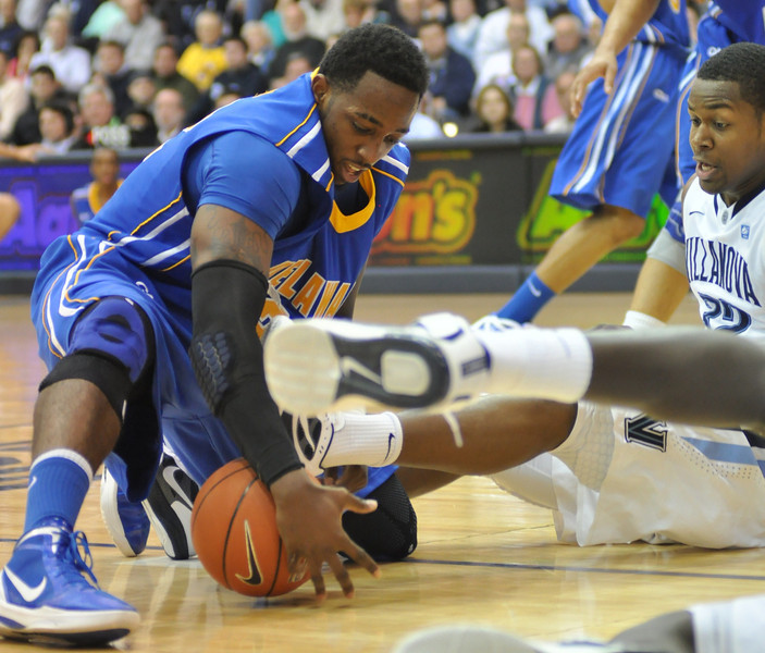 Josh Brinkley scrambles for a loose ball