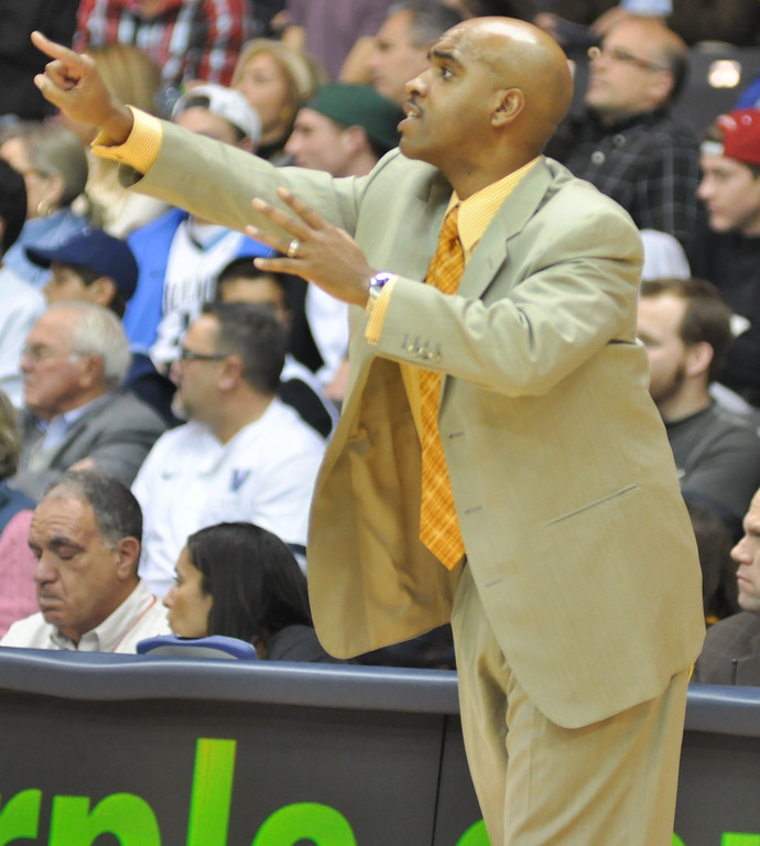 Coach Monte Ross gives some last minute orders