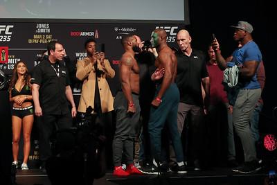 UFC 235 Ceremonial Weigh Ins