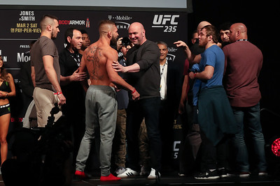 UFC 235 Ceremonial Weigh Ins