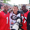 Nick Chubb, Rob Saye, Sony Michel
