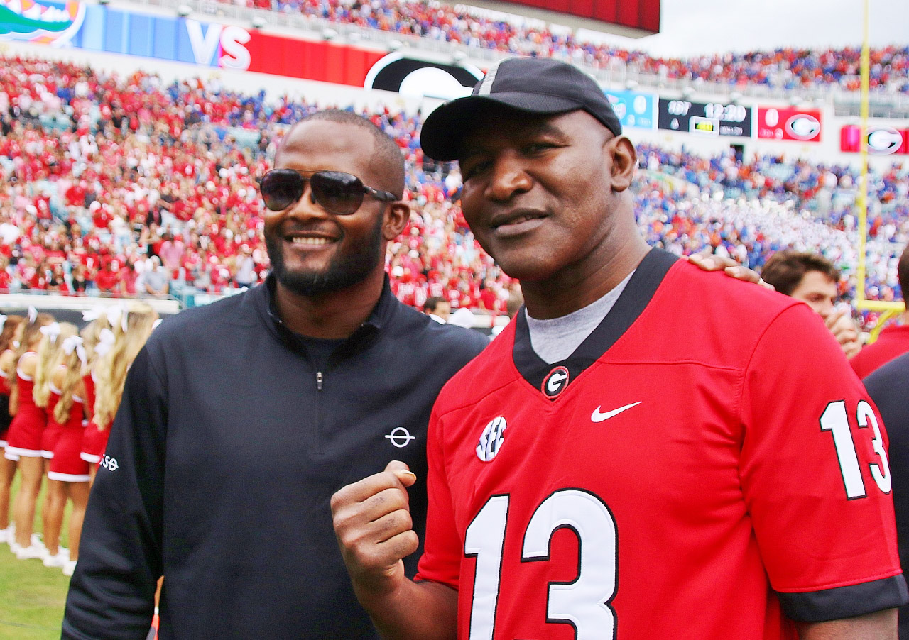 Champ Bailey and Evander Holyfield