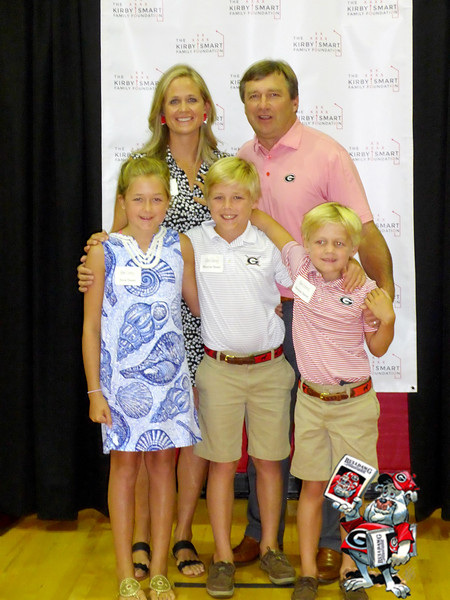 Mary Beth Smart, Kirby Smart, Julia Smart, Weston Smart, Andrew Smart