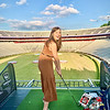 LINDSAY MCCONNELL WAS ONE OF MANY HAPPY DAWGS TO ENJOY TOPGOLF LIVE IN SANFORD STADIUM