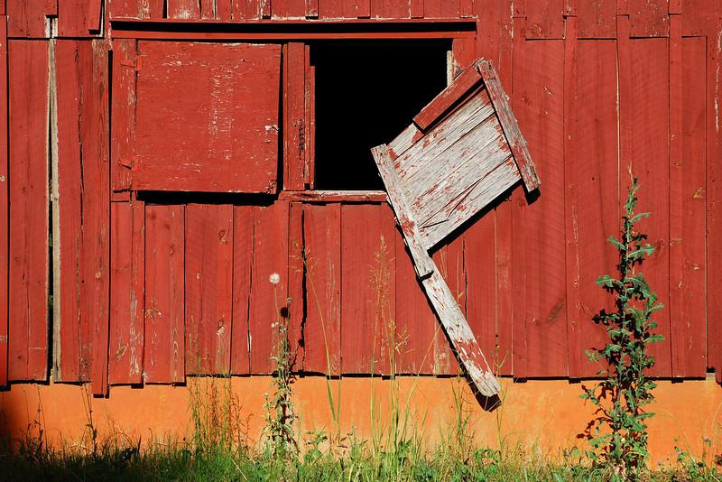 Red Barn detail. Clarke County (GA) May 2008